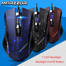 New Ergonomics 2400dpi Adjustment USB 6D Wired Optical Computer Gaming Mouse Mice for Computer PC Laptop Computer Mouse