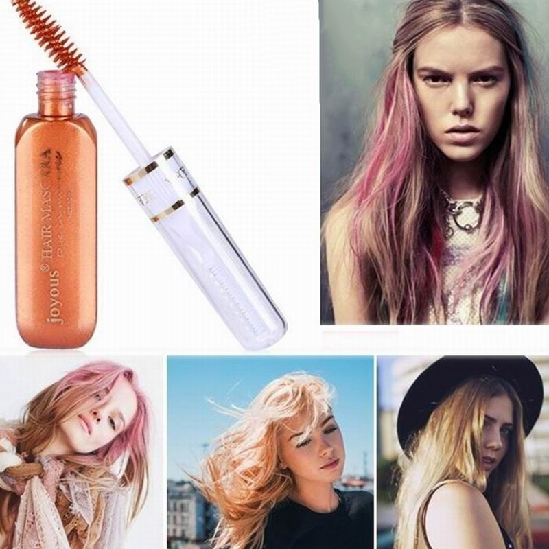 2017 Portable Temporary Color Hair Dye Mascara Non Toxic Hair Mix