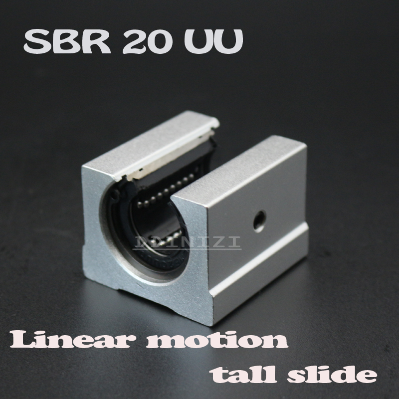 4pcs/lot SBR20UU SBR20 Linear Bearing 20mm Open Linear Bearing Slide block 20mm Linear Rail CNC parts linear Guide Free Shipping