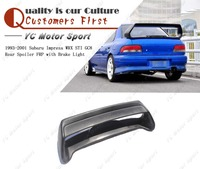 Car Accessories FRP Fiber Glass STI Style Rear Spoiler With Brake Light Fit For 1998 2000