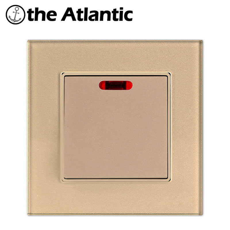 Atlantic 3 Color Smart Home 20A Switch Tempered Glass 1 Gang 20A Water Heater Geyser High power Wall Switch With Led LightAtlantic 3 Color Smart Home 20A Switch Tempered Glass 1 Gang 20A Water Heater Geyser High power Wall Switch With Led Light