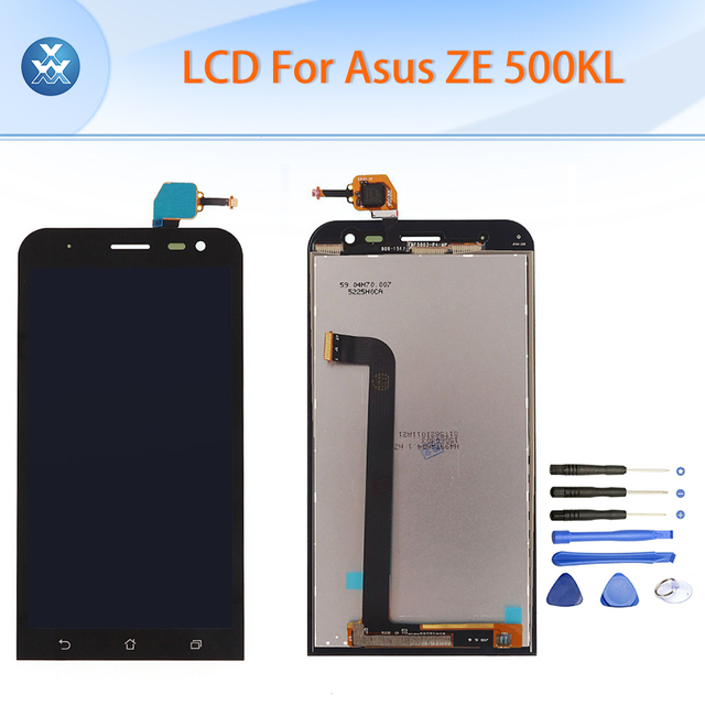 Original LCD for ASUS Zenfone 2 Laser ZE500KL LCD display touch screen digitizer assembly black 5 inch ZE 500KL pantalla+tools