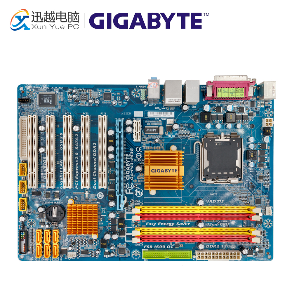 Gigabyte GA-P43-ES3G REV 1.0 Desktop Motherboard P43-ES3G P43 Socket LGA 775 DDR2 ATX On Sale jiaqi tt661 2 4g rc stunt robot remote control deformation robot