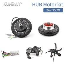 24V350W Bürstenlosen Elektroroller Nabenmotor Rad Kit Mit 8 inch Vorderrad Reifen Controller E-brake LCD Gas für Ebike