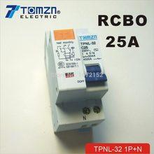 DPNL 1P + N 25a 230 В ~ 50 Гц/60 Гц автоматический выключатель с защитой от перегрузки по току и утечки RCBO