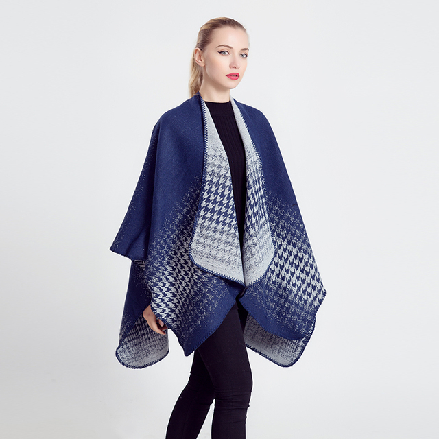 2016 Oversize Winter Acrylic Cashmere Immitation Plaid Scarf Brand Blanket Shawl Designer Pashmina Wrap Stole For Women
