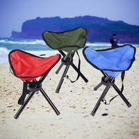 Outdoor Camping Folding Tripod Fishing Chair Seat Foldable Portable Traveling Chair Slacker Breathable Stools