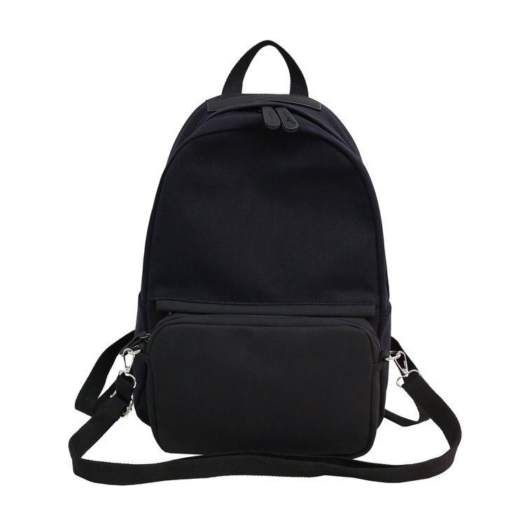 Nouveau solide couleur femmes sacs à dos toile sac à dos filles sac à dos école sacs à dos pour collège étudiant Mochila Feminina détachable