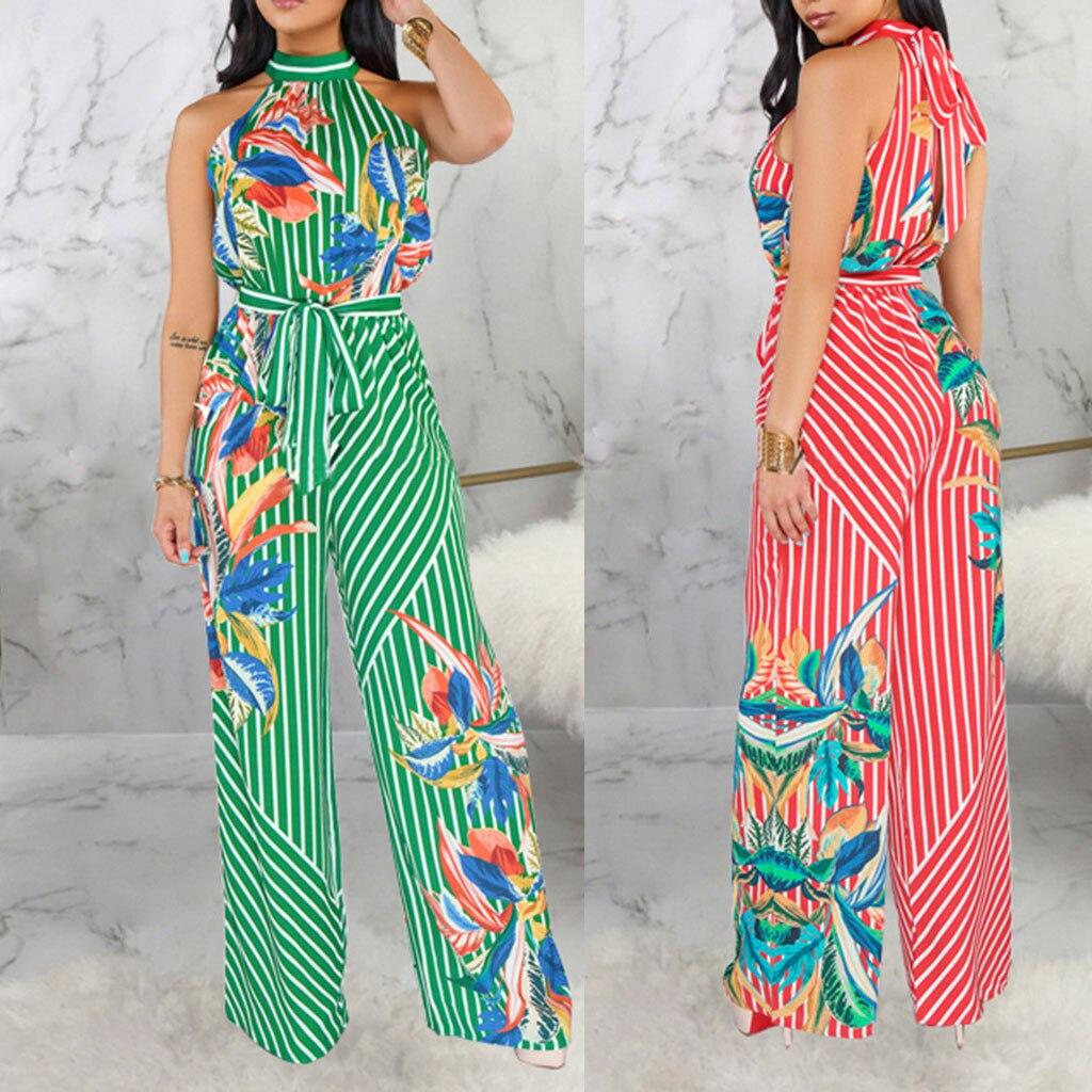 Hochwertige Polyester Material Damen Sexy Mode Digitaldruck Frauen Atmungsaktive Hängen Neck Straps Overall Neue 520 Gute WäRmeerhaltung