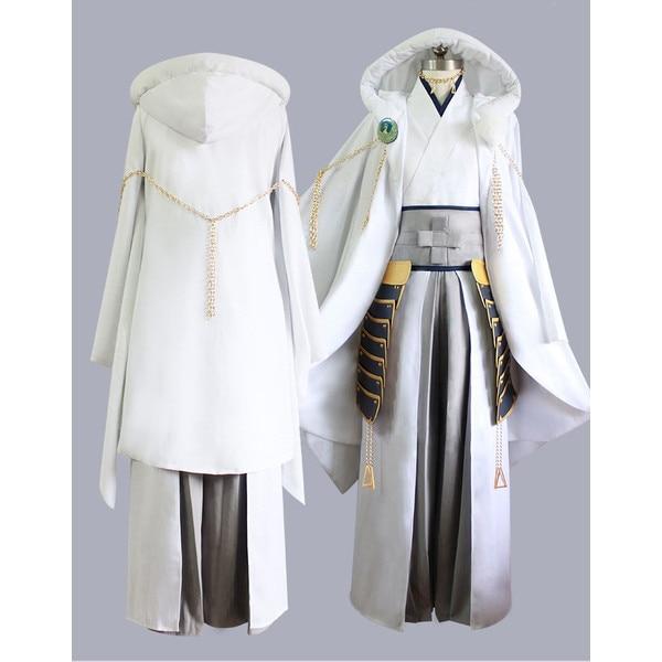 Ranbu Online Tsurumaru Kuninaga Cosplay Touken White Samurai Polyester Costume Japanese Uniform Game Cosplay CM222