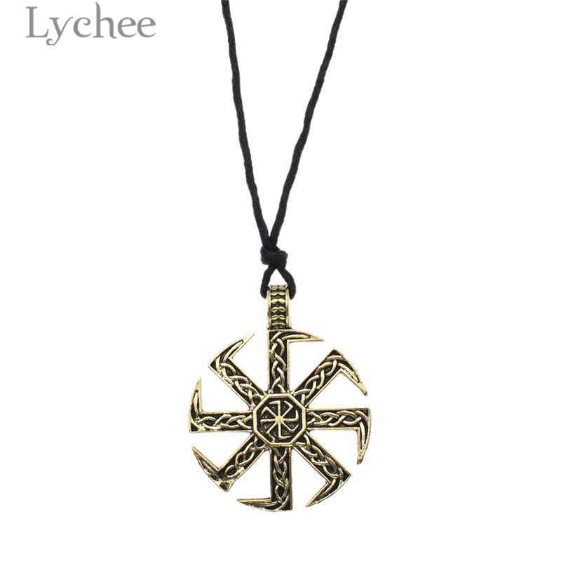 Jewelry & Accessories Pendant Necklaces Honest Lychee Trendy Alloy Viking Axe Pendant Necklace Gold Silver Color Unisex Necklace Women Men Jewelry Accessories