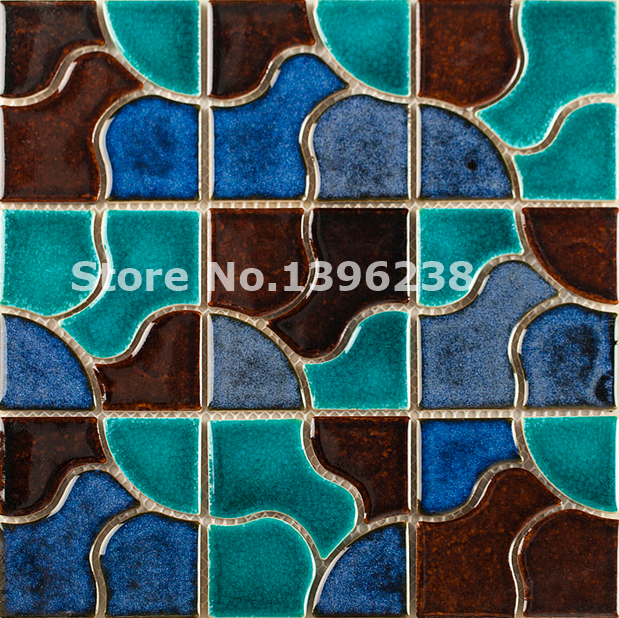 Free shipping,Ceramic mosaic tile kitchen background/bathshower wall shower hallway/fireplace border Art home wall tiles,LSQHC08
