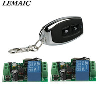 433Mhz Universal Wireless Remote Control Switch AC 85V 250V 110V 220V 1CH Relay Receiver Module And