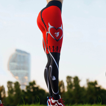 Sexy Heart Print Legging 1