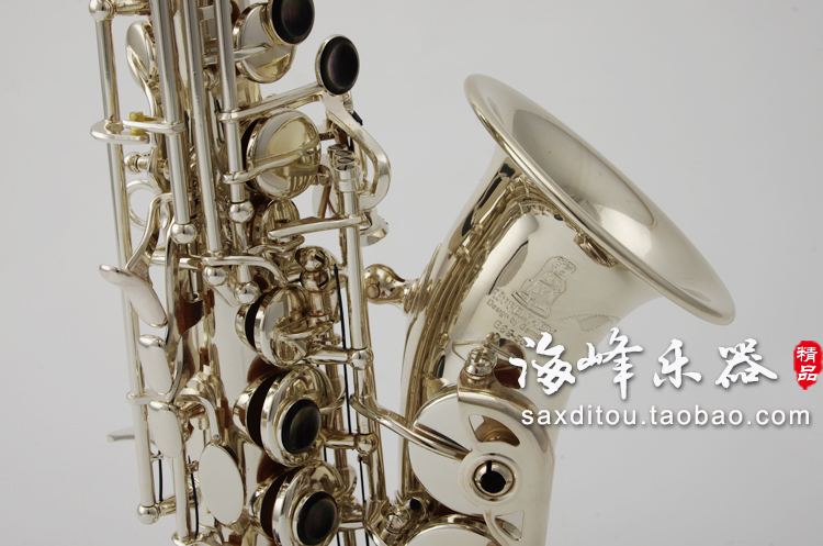 Brand EPPELSHEIM ESS-300 B Flat Silvering Soprano Saxophone Small Curved Neck Exquisite Hand Carved Sax With Case And Mouthpiece