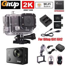 Gitup git2 про спорт Камера Action Cam Wi-Fi 2 К 30fps Новатэк 96660 + Зарядное устройство Батарея Kit + Автомобильное Зарядное устройство + кронштейн