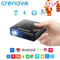 CRENOVA DLP Mini Projector With Android 7.1.2 OS WIFI Bluetooth Portable Projector For Full HD 1080P Home Theater Movie Beamer