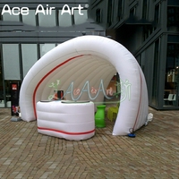 High shaped inflatable shell dome bar/trade show booth,service desk and tunnel booth for exhibition