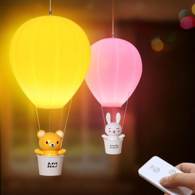 Kids Best Gift Balloon Design Funny LED Kids Lamps Night Lights Remote  Control U0026 Touch Sensor