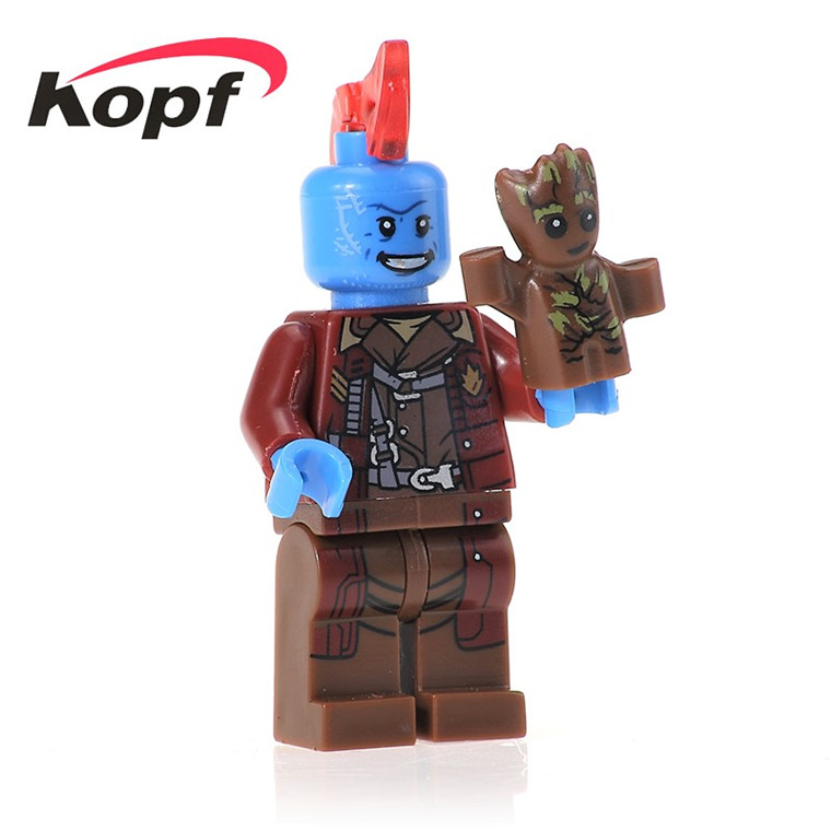 20Pcs PG161 Building Blocks Yondu With Guardians of the Galaxy Super Heroes Bricks Doll Action Learning For Children Toys Gift