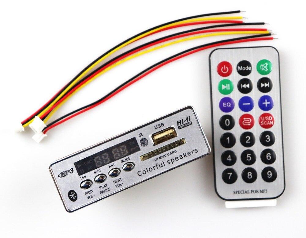 רכב Bluetooth MP3 פענוח לוח מודול אלחוטי רכב USB MP3 נגן SD כרטיס חריץ/USB/FM/מרחוק פענוח לוח מודול