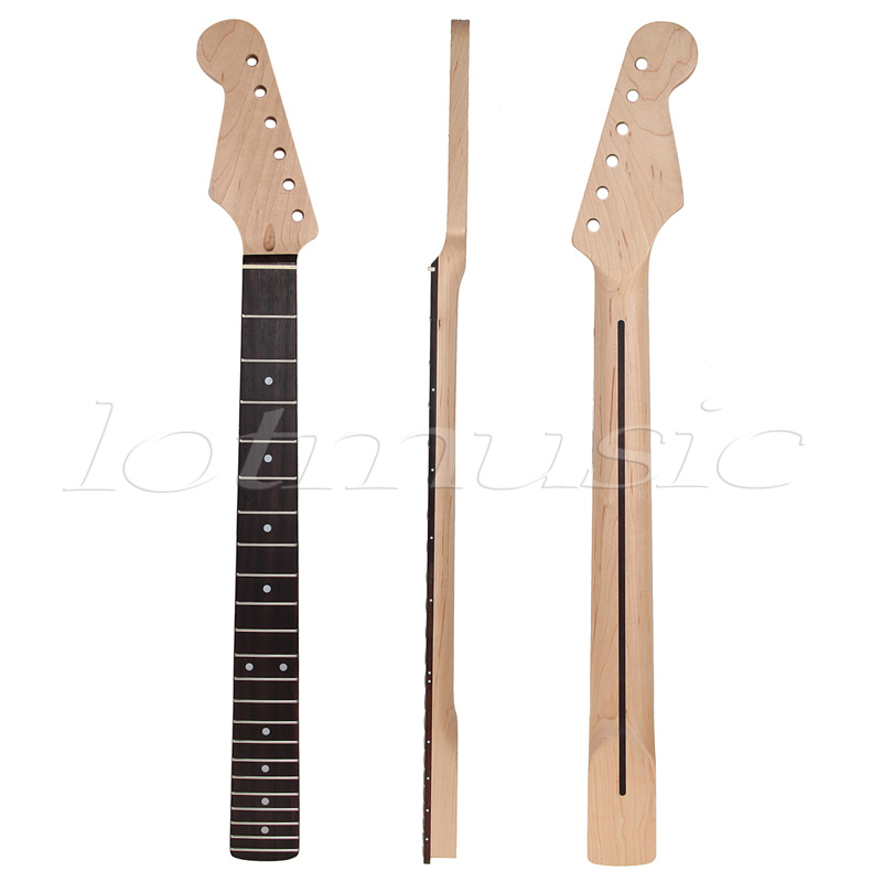 Left Hand Electric Guitar Neck Parts Replacement Canada Maple with 22 Frets Rosewood Fingerboard Bolt On Installation knsvvli over knee boots woman mixed color belt buckle stretch knit sock long boots sexy pointy toe stiletto heel thigh high boot