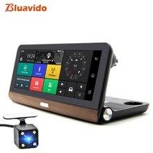 Bluavido 8 дюймов 4 г Android автомобиль камера памяти GPS навигации ADAS Full HD 1080 P приборная панель для автомобиля видео регистраторы удаленного Live мониторы