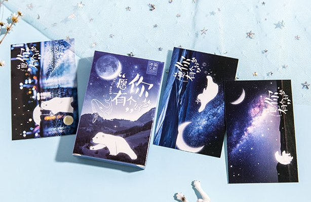 57mm*87mm Good Dream Greeting Card Lomo Card(1pack=27pieces)