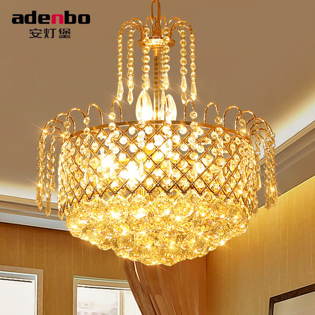 Aliexpresscom Buy Modern Gold LED Crystal Chandeliers Lighting