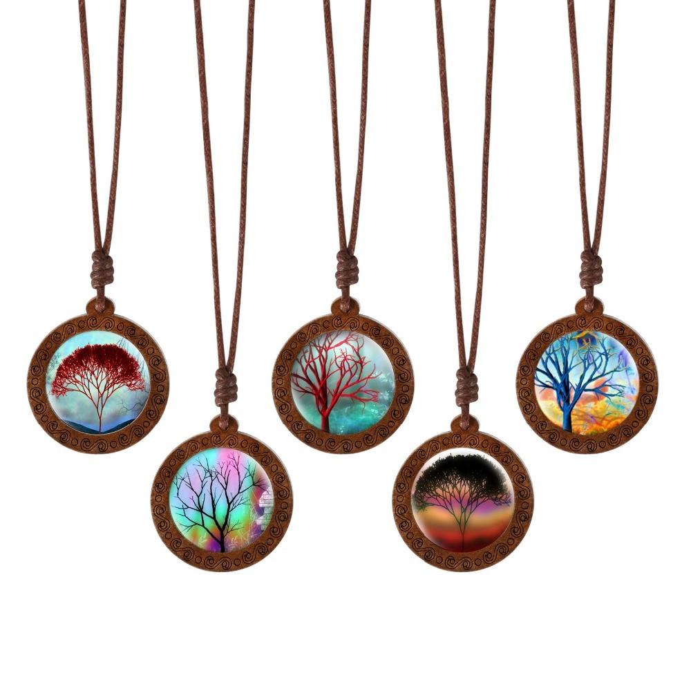 Family Decor Black Charm Photo Compass Pendant Necklace Cabochon Glass Vintage Bronze Chain Necklace Jewelry Handmade