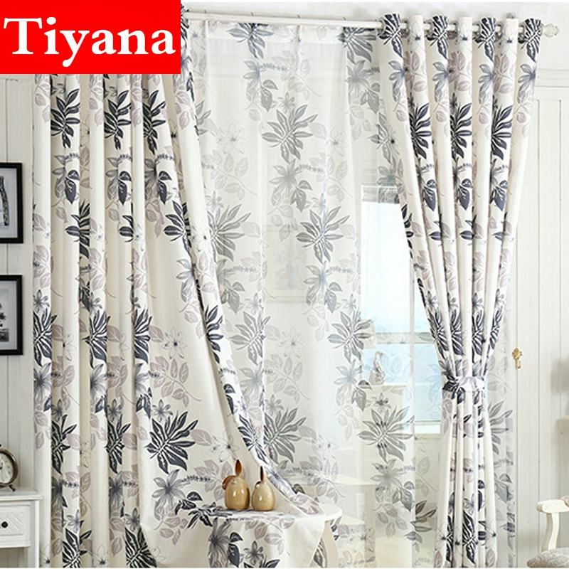 Modern Cotton And Linen Fabric Window Curtains Set For