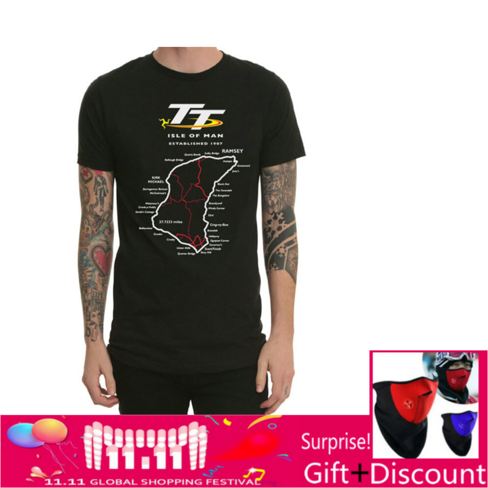 ISLE OF Man Youth Black t shirts Cotton Tee shirts TT RACE Racewear Shocker Dirt Bike Jersey kawasaki Motorcycle T Shirt O Neck