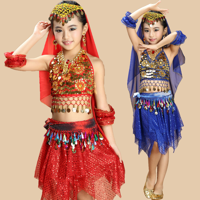 d2b41da003f7d6 belly dance costume top pants set grils indian sari clothing bellydance  oriental costumes children clothes bollywood for kids