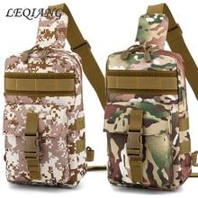 Men Canvas Chest Bag Messenger Shoulder Tactical Army Crossbody