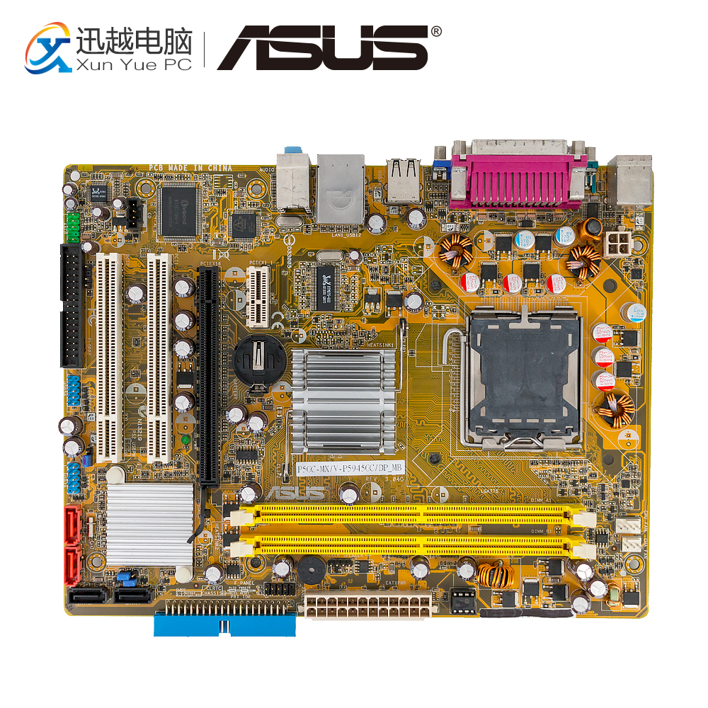Asus P5GC-MX/V-P5945GC/DP_MB Desktop Motherboard 945GC P5GC-MX V DP LGA 775 4G DDR2 USB2.0 Micro-ATX