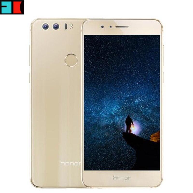 "Original Huawei Honor 8 4G FDD LTE 3GB RAM 32GB ROM Mobile Phone Octa Core Android 6.0 5.2"" FHD 1920*1080 Fingerprint NFC"