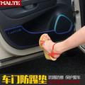 Polyester door anti-kick pad anti-rub pad protection pad for Renault CAPTUR Car styling