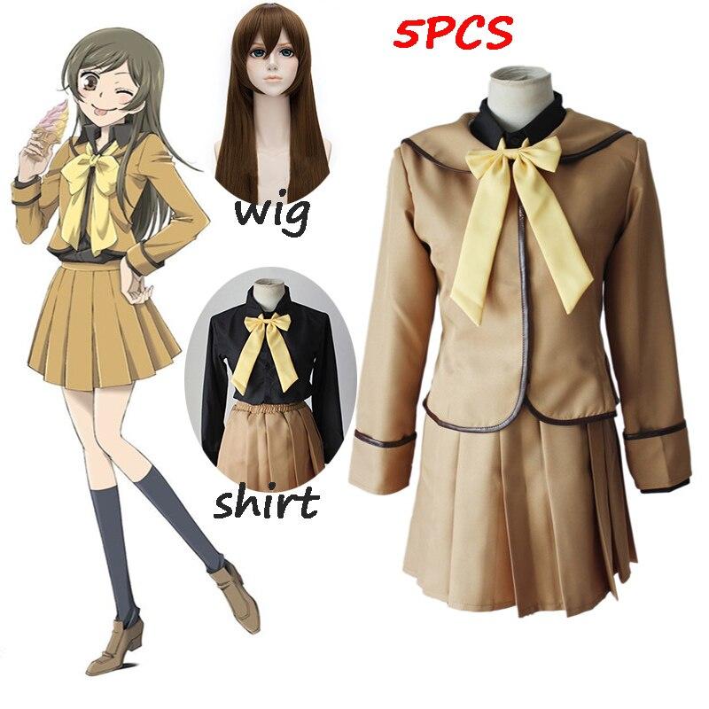 Kamisama Kiss Kamisama Hajimemashita Momozono Nanami School Uniform Sailor Suit Tops Dress Outfit Anime Cosplay Costume And Wig