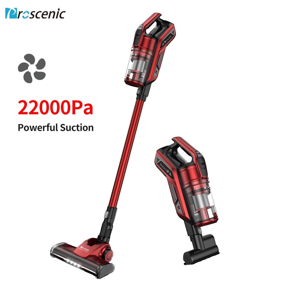 Proscenic i9 sem fio aspirador de pó 22000 pa max sucção leve 2 em 1 protable sem fio filtro ciclone forte sucção