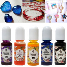 13pcs DIY UV Epoxy Art Crafts Liquid Gift Jewelry Making Color Resin Pigment Handmade Accessories Colorant Rainbow Mold