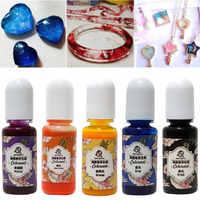 13pcs DIY UV Epoxy Art Crafts Liquid Gift Jewelry Making Epoxy Color Resin Pigment Handmade Accessories Colorant Rainbow Mold