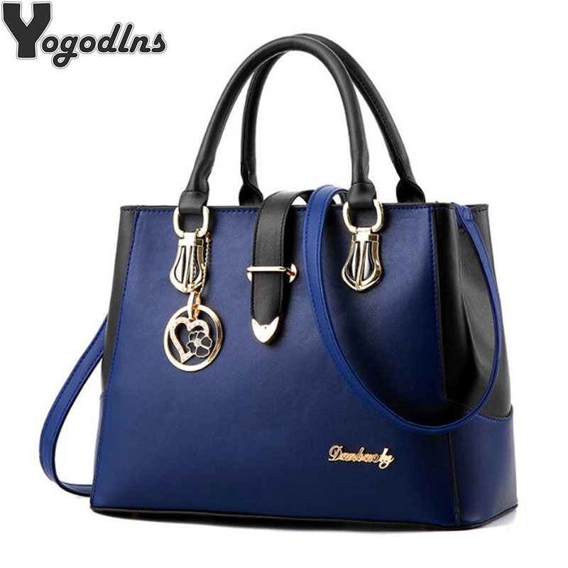 2018 Sweet Handbags for Women New Fashion Designer PU Leather Shoulder Bags Female Top-Handle Tote Crossbody Messenger Bag elegant top handle handbags female new designer pu leather evening bag 2017 fashion high grade exquisite embroidered women totes