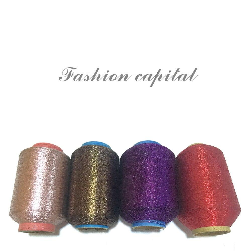 Wholesale 500g/lot Worsted Metallic Cotton Yarn Baby Sewing Thread Weaving Crochet Yarn For Knitting Golden Silk Thread,Z2707