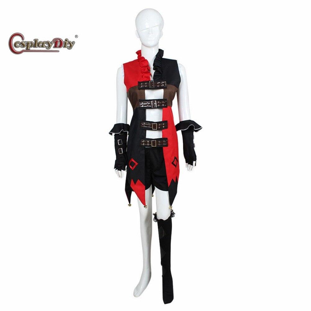Cosplaydiy Injustice Gods Among Us Harley Quinn Adult Women Halloween Carnival Cosplay Costume Custom Made J5