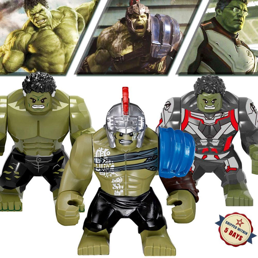 LEGOED Marvel Hulk Avengers Endgame Hero Model Building Blocks Mini Bricks IronMan Spiderman Figures Compatible With LegoING Toy(China)