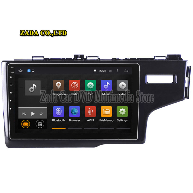 NaviTopia 9inch Octa Core 4GB Android 8.0Android 7.1 Car DVD GPS for Honda FITJAZZ 2014- RHD Support steering wheel control