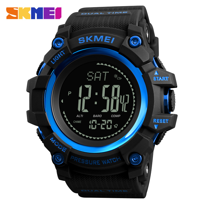SKMEI Sports Watches Men Luxury Brand Calories Pedometer Digital Watch Compass Altimeter Barometer Thermometer Weather Men Watch skmei men watch sport altimeter pressure thermomet weather pedometer calories compass multifunction led digit wrist watches men