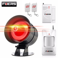 Wireless 110db Sound Strobe Siren Flash Alarm System For Home Burglar Security