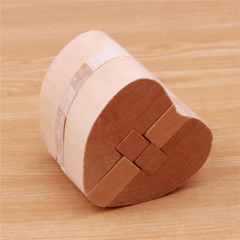 3D ხის თავსატეხი Luban Locks გამოცანები