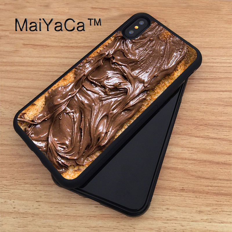 MaiYaCa Choco Toast Foodie Chocolate Case For iPhone X Soft TPU PC Back Case Coque Funda Cover for iphone X Accessories